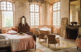 Staying in the historic Chateau de Gudanes, an 18th-century neoclassical château in the commune of Château-Verdun built on the site of an older castle destroyed in 1580 and currently under restoration by the Waters family.